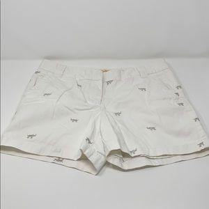 J. Crew Chino Short Embroidered Elephants